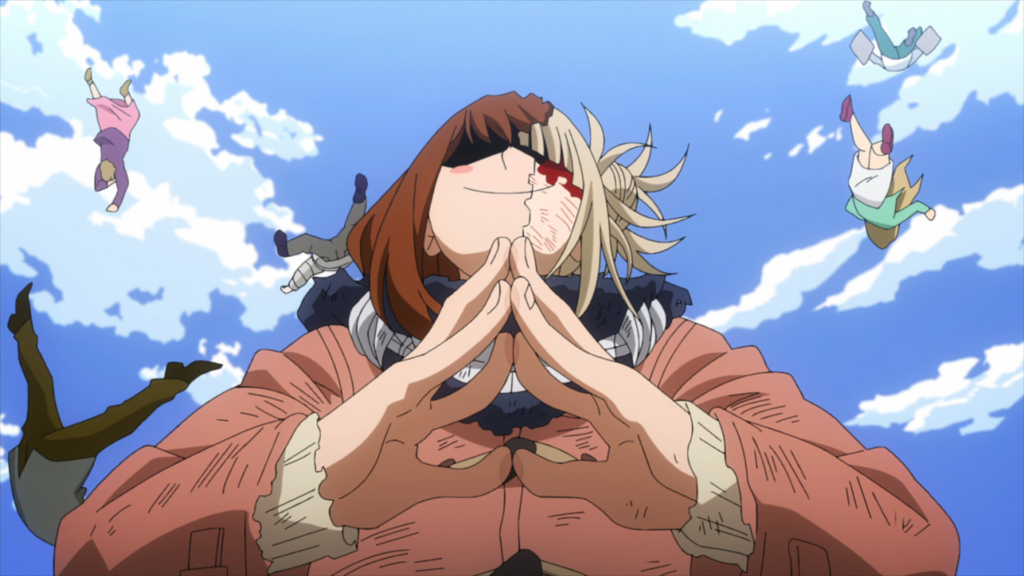Toga dropping members of the Meta Liberation Army to their death