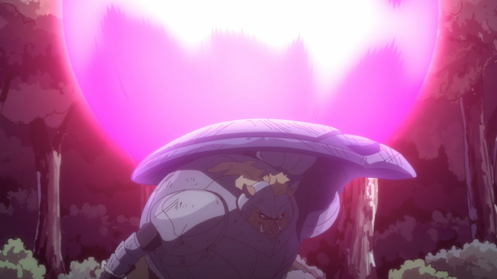 That Time I got Reincarnated as a Slime Episode 44 - Geld taking a hit from Footman