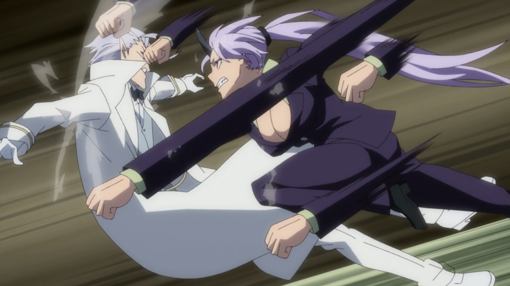 That Time I Got Reincarnated as a Slime Episode 46 - Shion beating down Clayman